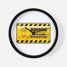 Warning Meter Reader Wall Clock