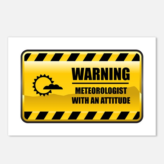 Warning Meteorologist Postcards (Package of 8)