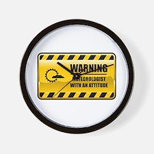 Warning Meteorologist Wall Clock