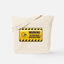 Warning Meteorologist Tote Bag