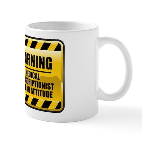 Warning Medical Transcriptionist Mug