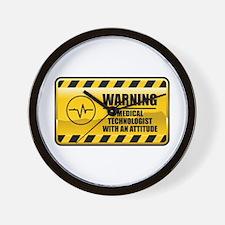 Warning Medical Technologist Wall Clock