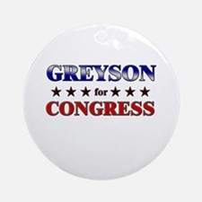 GREYSON for congress Ornament (Round)