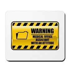 Warning Medical Office Assistant Mousepad