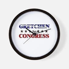 GRETCHEN for congress Wall Clock
