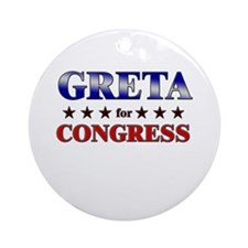 GRETA for congress Ornament (Round)
