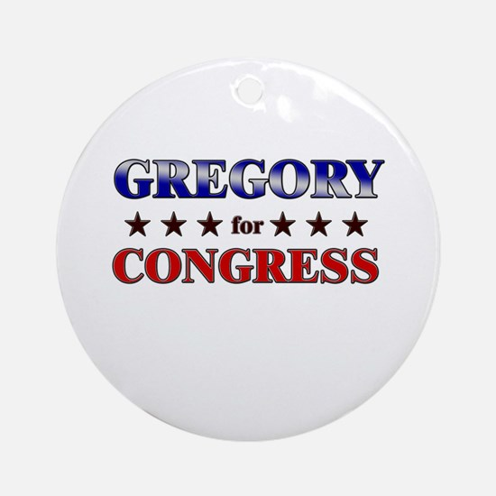 GREGORY for congress Ornament (Round)