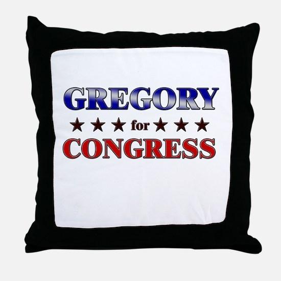 GREGORY for congress Throw Pillow