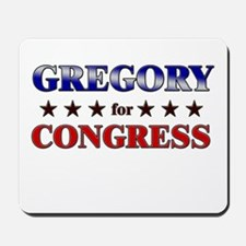 GREGORY for congress Mousepad