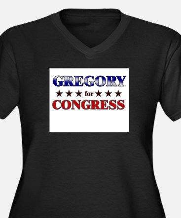 GREGORY for congress Women's Plus Size V-Neck Dark