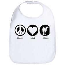 Peace Love Camel Bib