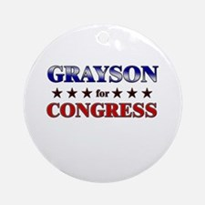 GRAYSON for congress Ornament (Round)