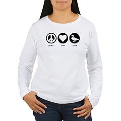 Peace Love Duck T-Shirt