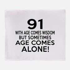 91 Awesome Birthday Designs Throw Blanket