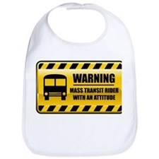Warning Mass Transit Rider Bib