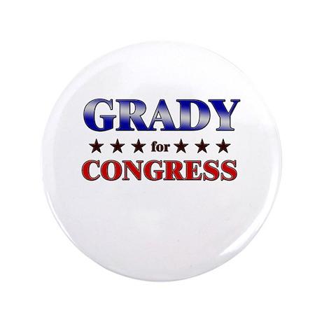 """GRADY for congress 3.5"""" Button"""