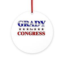 GRADY for congress Ornament (Round)