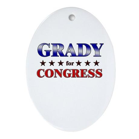 GRADY for congress Oval Ornament