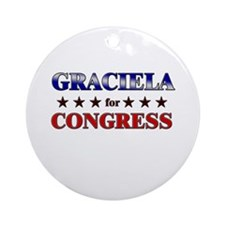 GRACIELA for congress Ornament (Round)