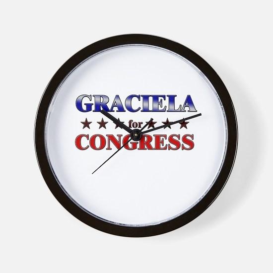 GRACIELA for congress Wall Clock
