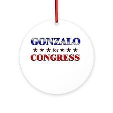 GONZALO for congress Ornament (Round)