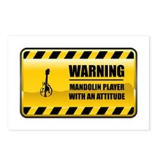 Warning Mandolin Player Postcards (Package of 8)