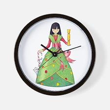 Christmas Girl Wall Clock