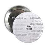 "Find Peace Anti-War 2.25"" Button (100 pack)"