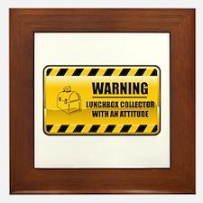 Warning Lunchbox Collector Framed Tile