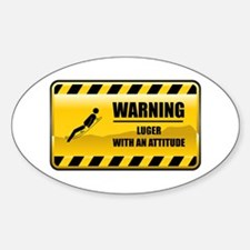 Warning Luger Oval Decal