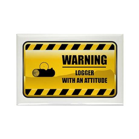Warning Logger Rectangle Magnet
