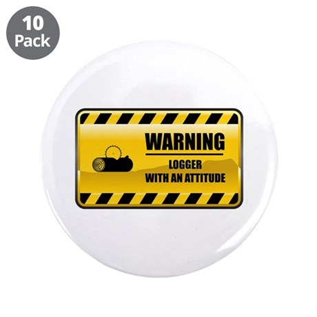 """Warning Logger 3.5"""" Button (10 pack)"""