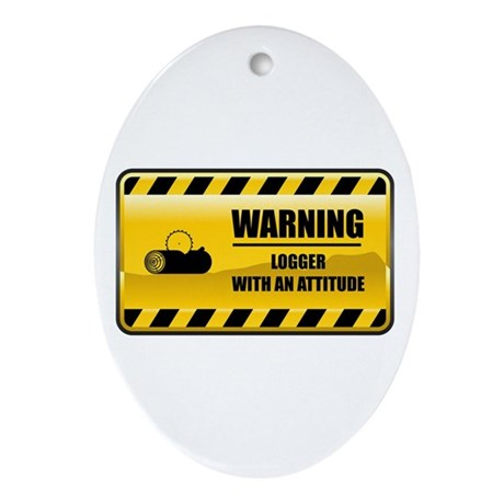 Warning Logger Oval Ornament