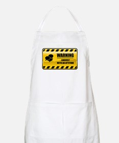 Warning Linguist BBQ Apron
