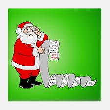 Santa's Nice List Tile Coaster
