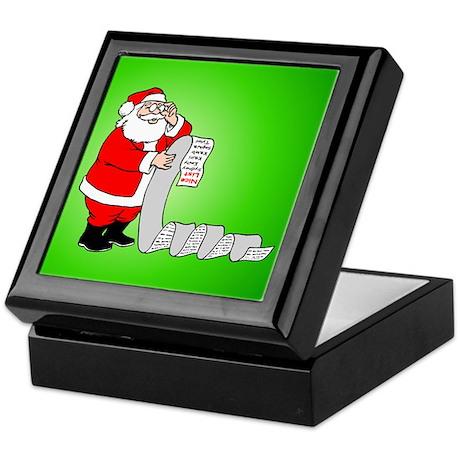 Santa's Nice List Keepsake Box
