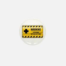 Warning Lifeguard Mini Button (10 pack)