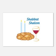 Shabbat Shalom Postcards (Package of 8)