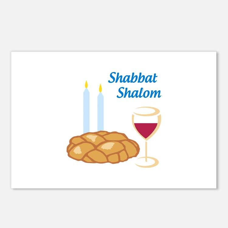 Shabbat Shalom Postcards (Package of 8)