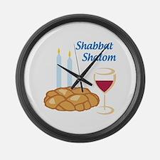 Shabbat Shalom Large Wall Clock