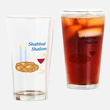 Shabbat Shalom Drinking Glass