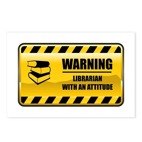 Warning Librarian Postcards (Package of 8)