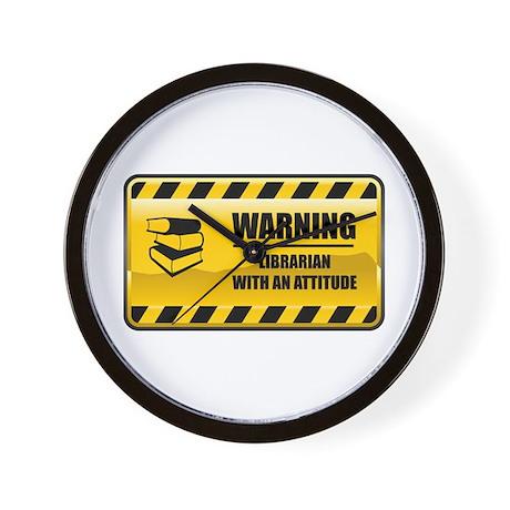 Warning Librarian Wall Clock