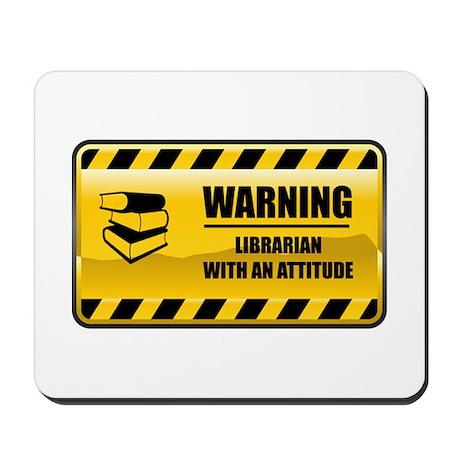 Warning Librarian Mousepad