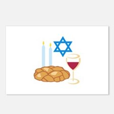 Jewish Shabbot Postcards (Package of 8)