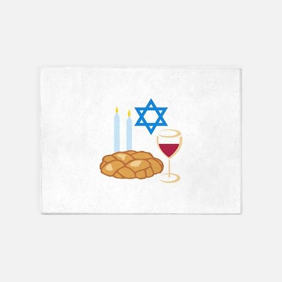 Jewish Shabbot 5'x7'Area Rug