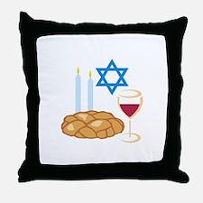 Jewish Shabbot Throw Pillow
