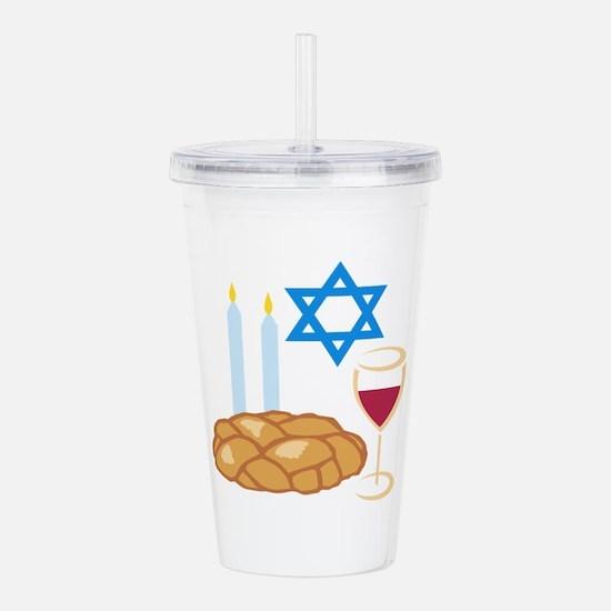 Jewish Shabbot Acrylic Double-wall Tumbler