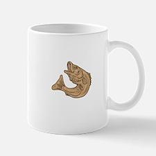 Rockfish Jumping Up Drawing Mugs