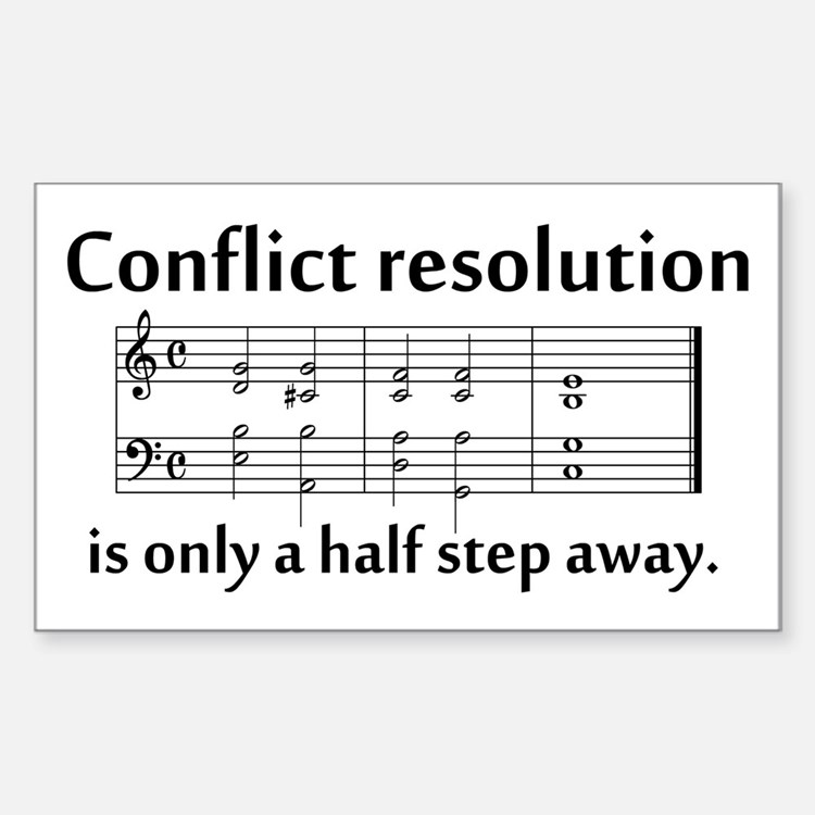 """Conflict Resolution"" Rectangle Decal"